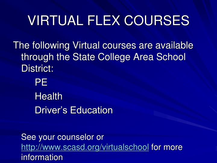 VIRTUAL FLEX COURSES