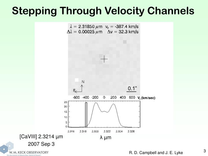 Stepping Through Velocity Channels