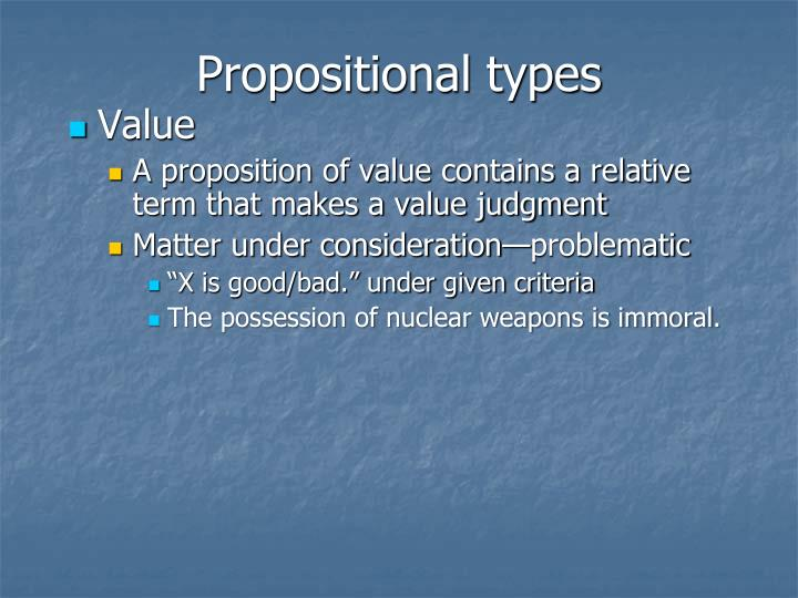 Propositional types