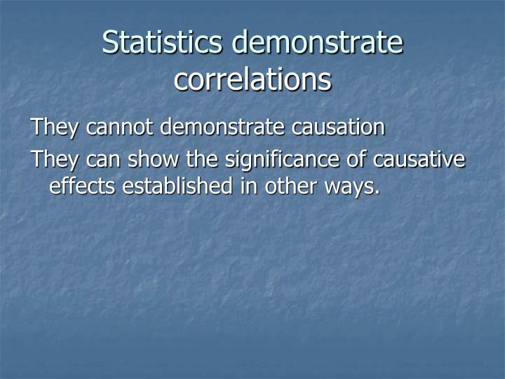 Statistics demonstrate