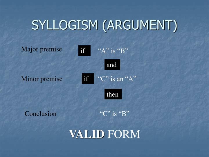SYLLOGISM (ARGUMENT)