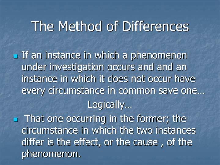 The Method of Differences