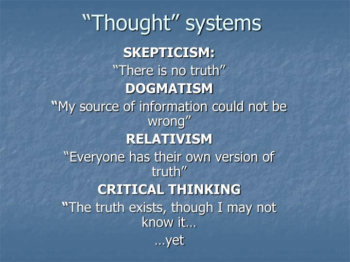 """""""Thought"""" systems"""