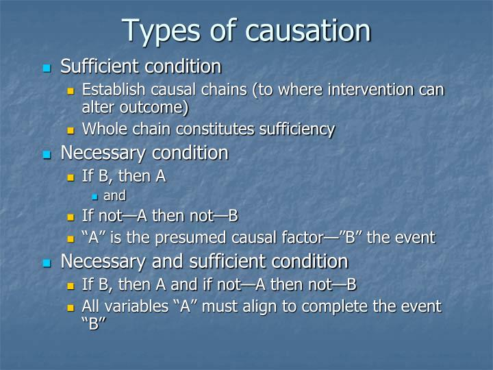Types of causation
