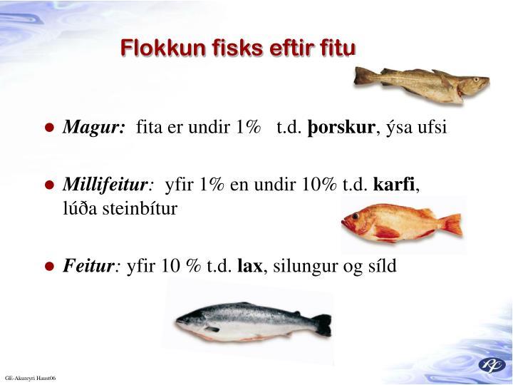 Flokkun fisks eftir fitu