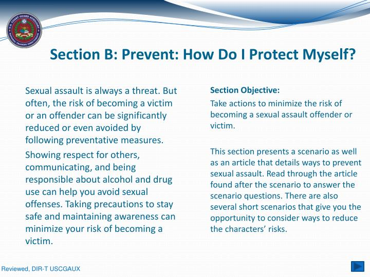Section B: Prevent: How Do I Protect Myself?