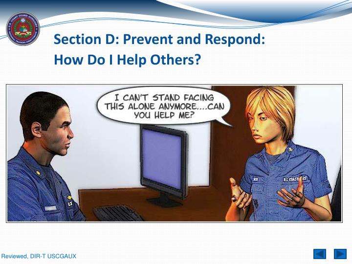 Section D: Prevent and Respond: