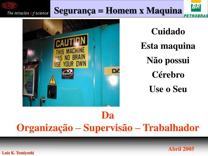 Segurança = Homem x Maquina