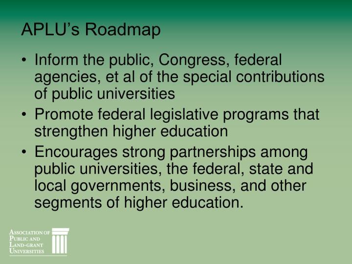 APLU's Roadmap