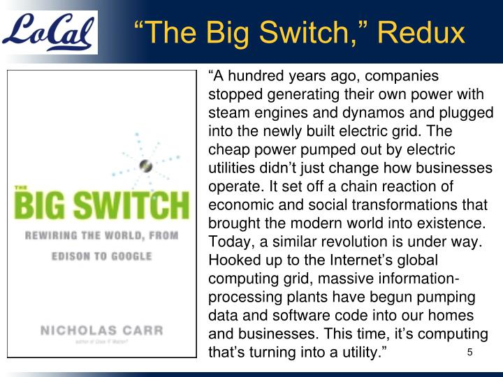"""The Big Switch,"" Redux"