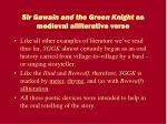 sir gawain and the green knight as medieval alliterative verse