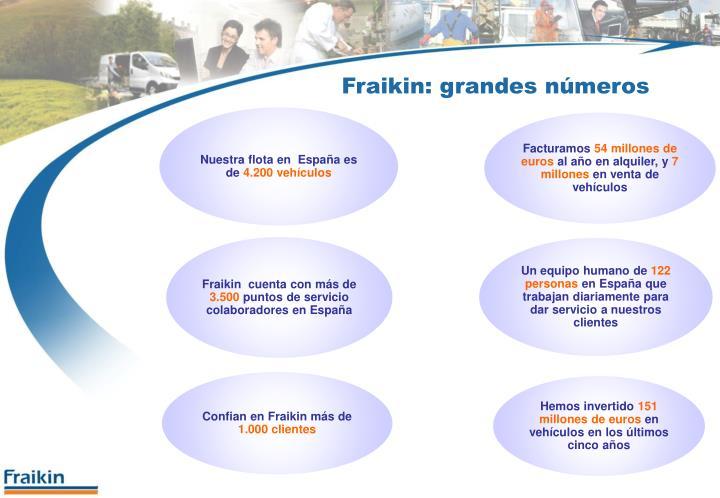 Fraikin: grandes números