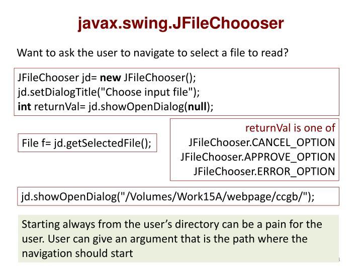 javax.swing.JFileChoooser