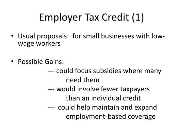 Employer Tax Credit (1)