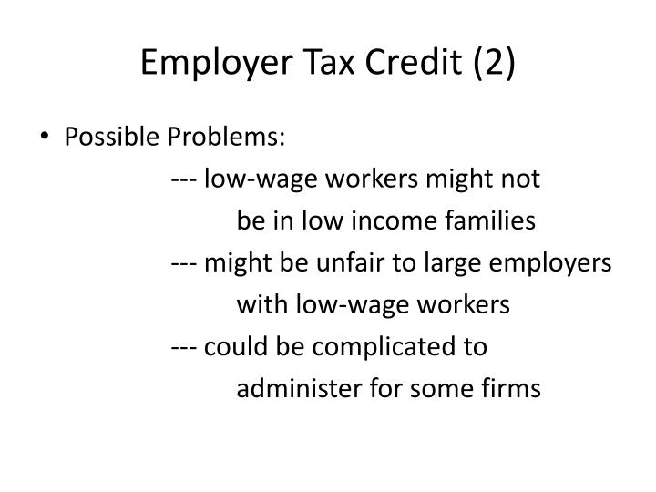 Employer Tax Credit (2)