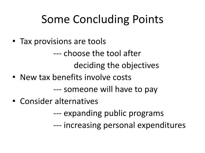 Some Concluding Points