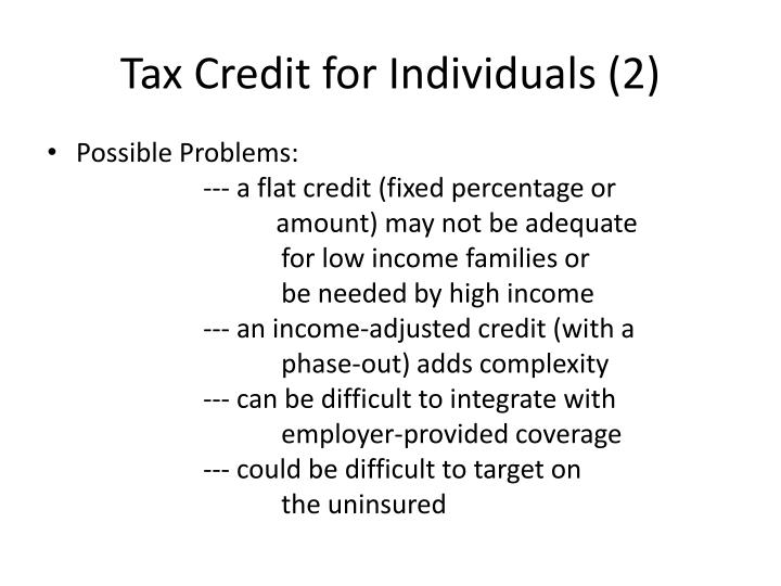 Tax Credit for Individuals (2)