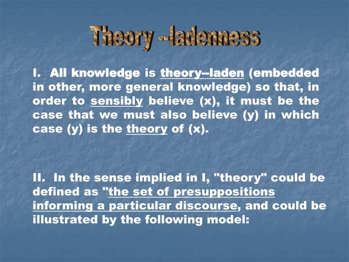 Theory --ladenness