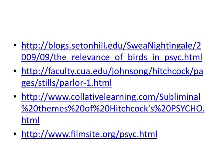 http://blogs.setonhill.edu/SweaNightingale/2009/09/the_relevance_of_birds_in_psyc.html