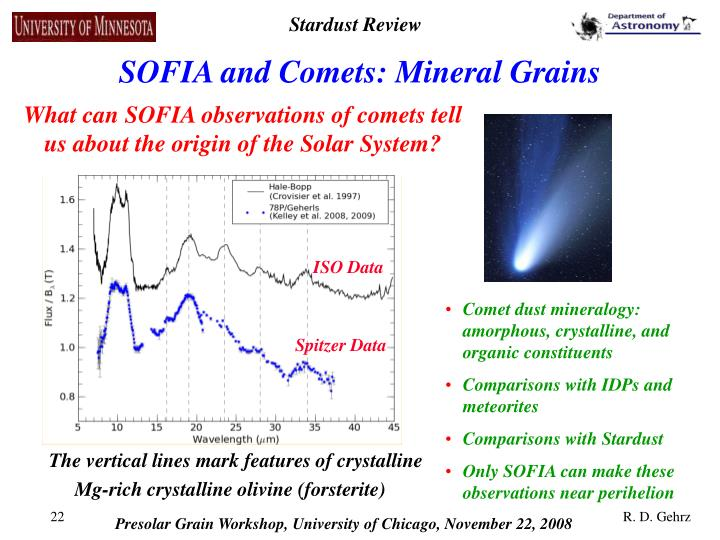 SOFIA and Comets: Mineral Grains