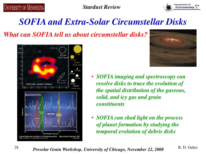 SOFIA and Extra-Solar Circumstellar Disks