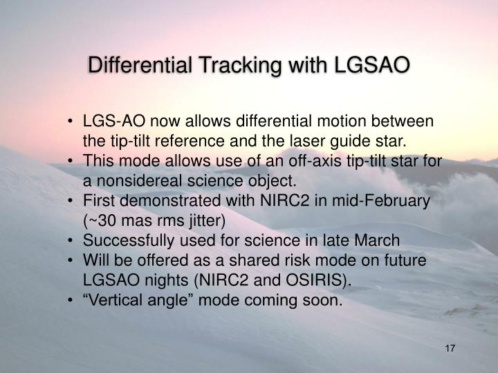 Differential Tracking with LGSAO