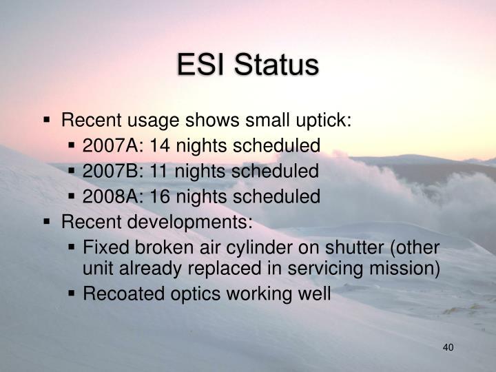 ESI Status
