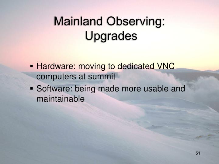 Mainland Observing: