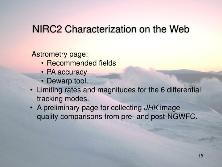 NIRC2 Characterization on the Web