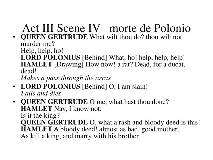 Act III Scene IV   morte de Polonio