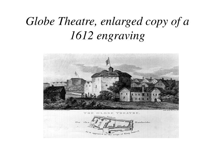 Globe Theatre, enlarged copy of a 1612 engraving
