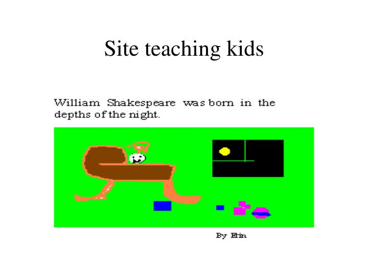 Site teaching kids