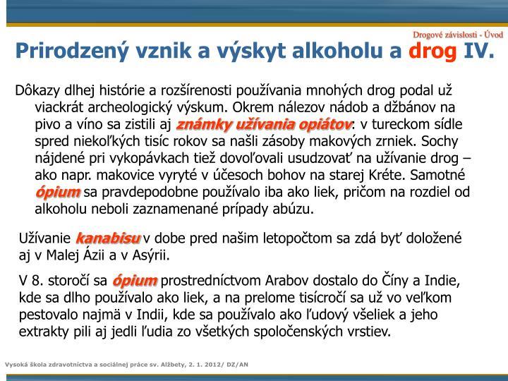 Prirodzený vznik a výskyt alkoholu a