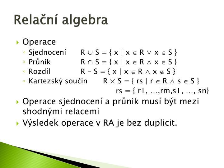 Relační algebra