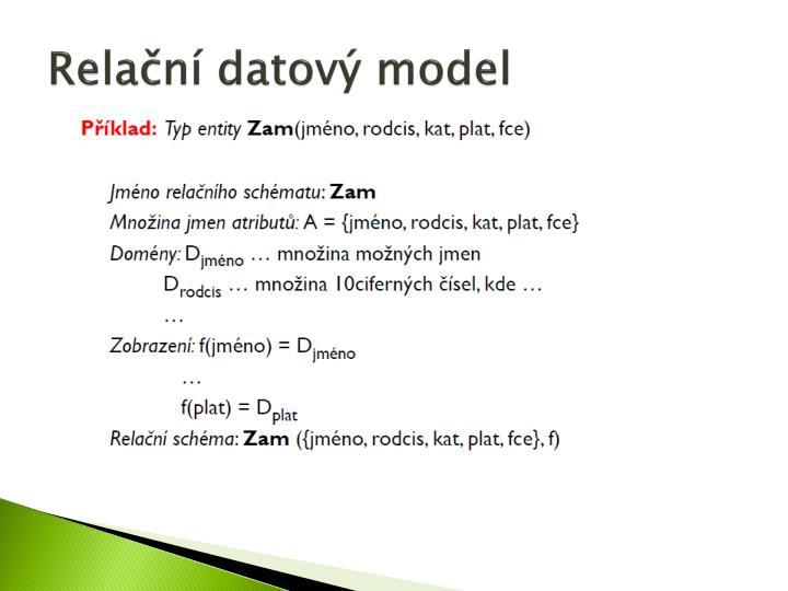 Relační datový model