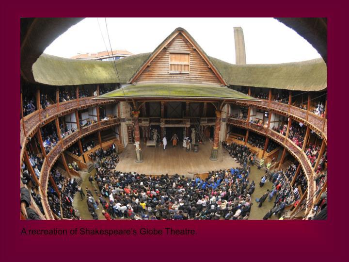 A recreation of Shakespeare's Globe Theatre.
