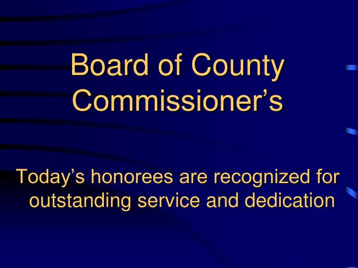 Board of county commissioner s