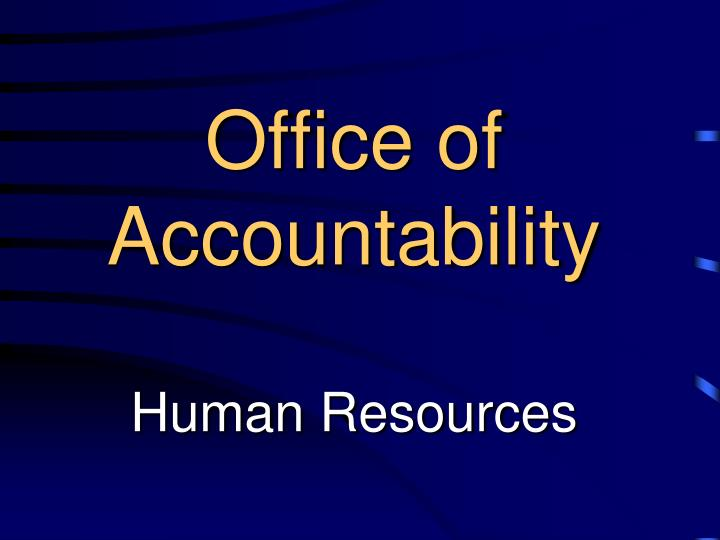 Office of Accountability