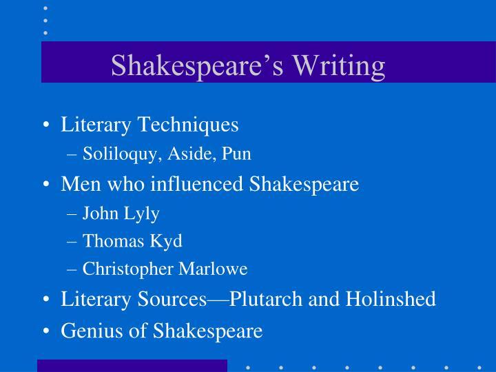 Shakespeare's Writing