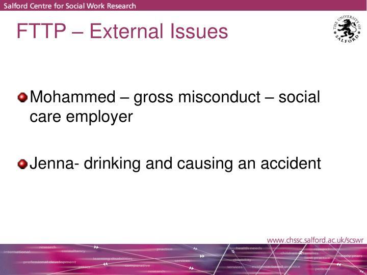 FTTP – External Issues