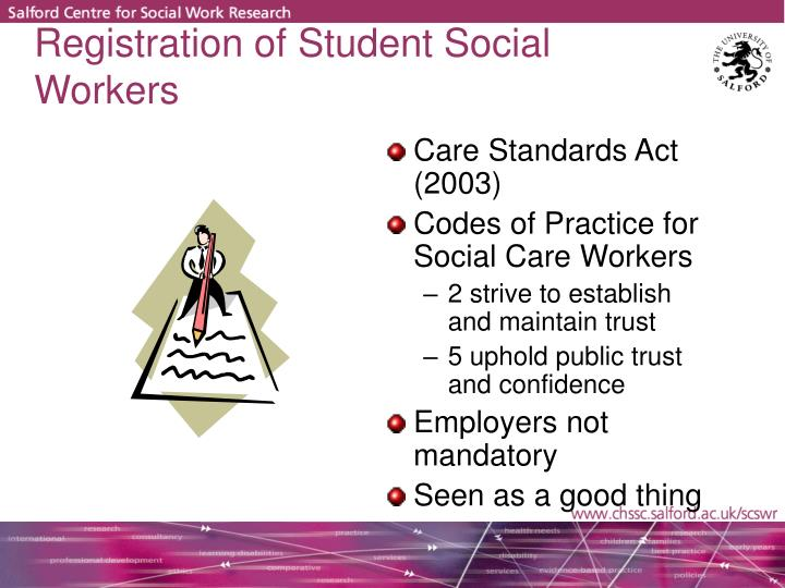 Registration of Student Social Workers