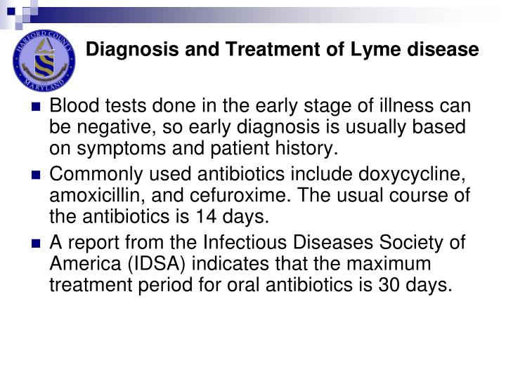 Diagnosis and Treatment of Lyme disease