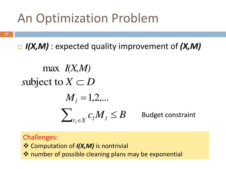 An Optimization Problem