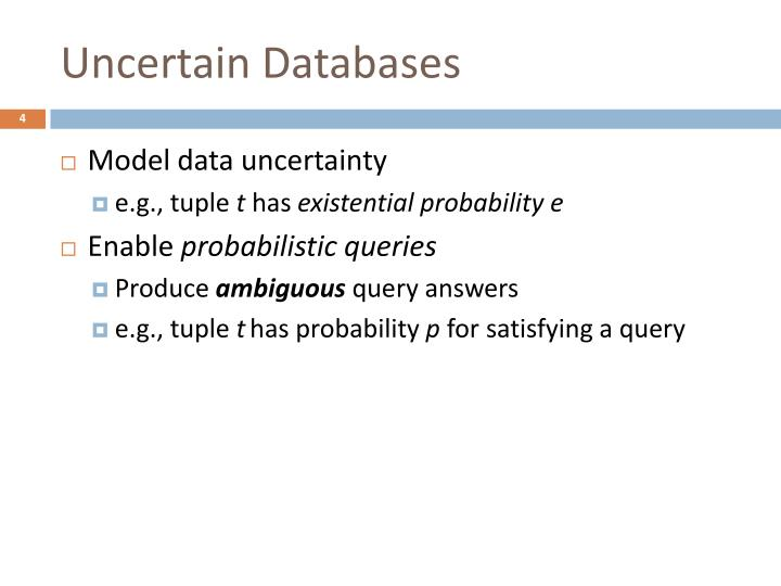 Uncertain Databases