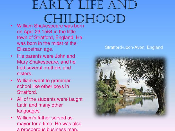 Early life and childhood