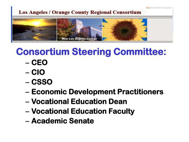 Consortium Steering Committee: