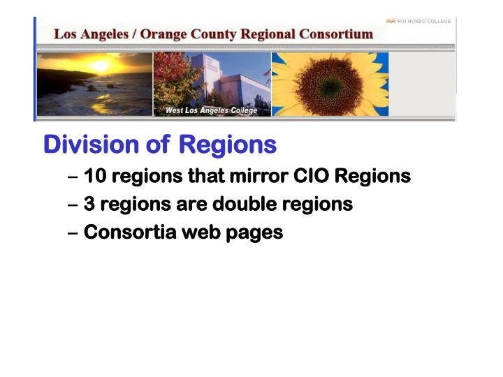 Division of Regions
