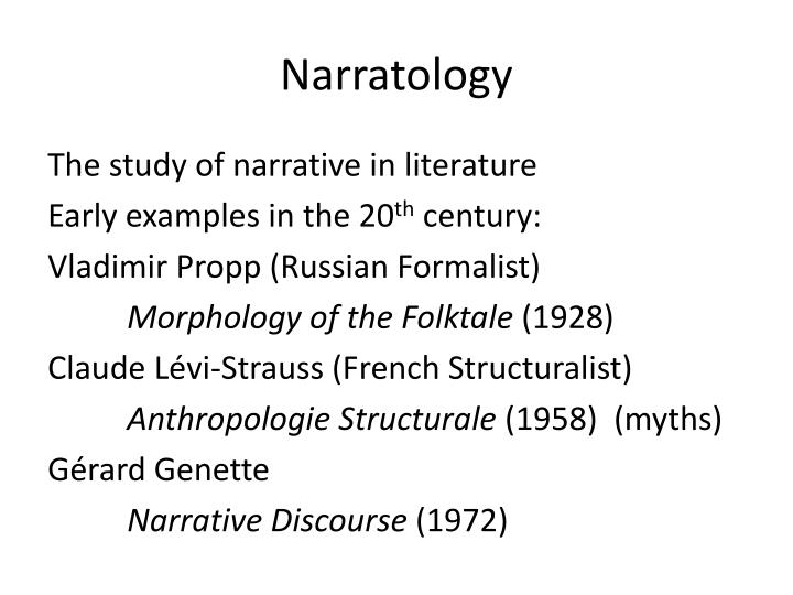 Narratology