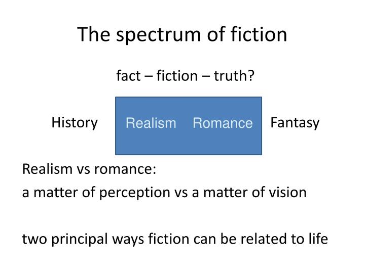 The spectrum of fiction