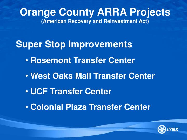 Orange County ARRA Projects
